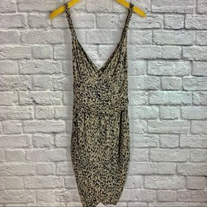 Guess Dress Size S Spaghetti String Leopard Brown